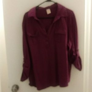 Plum color 3/4 sleeve top